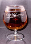 Personalized 12 oz Citation Brandy Glass