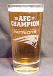 Personalized 2017 Patriots AFC Football Pint Glass