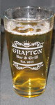 20 oz Engraved Pint Glass