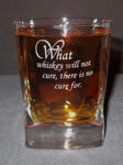 Engraved Crystal Alfieri Double Old Fashioned Whiskey Glass