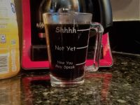 Now You May Speak Funny Engraved Coffee Mug
