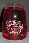 Personalized Lead Free Crystal Amplifier Vintner's Tasting Glass Gift Set of 4