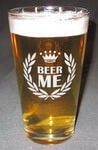 Personalized 'Beer Me' Pint Glass
