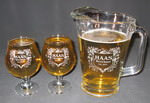 Personalized Belgian Beer Glass and Beer Pitcher Set