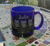 Personalized 13oz Blue Coffee Mug