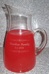 Personalized Crystal Crescendo Pitcher