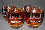 Engraved Crystal Crescendo Whiskey Tumbler Set