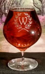 Personalized Traditional Crystal Cognac/Brandy Snifter, set of 4