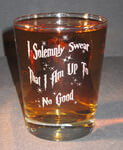 Engraved English Highball Whiskey Glass