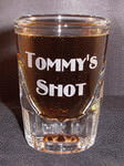 Personalized Fluted Whiskey Shot