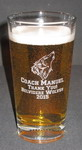 Personalized Football Beverage/Pint Glass