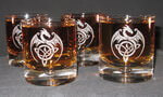 Engraved Crystal Galaxy Single Malt Scotch Rocks, set of 4