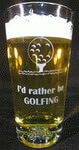 Personalized Golf Beverage Glass