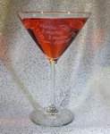 Personalized Midtown Martini Glass