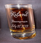 Personalized Pisa Double Old Fashioned Whiskey Glass
