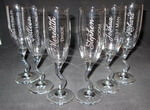Personalized Sideways Flute Wedding Set
