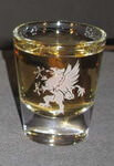 Personalized Small Whiskey Shot Glass