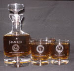 Crystal Taylor Personalized Whiskey Decanter Set