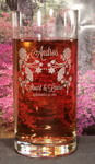 Engraved Crystal Titanium Crystal Highball Whiskey Glass