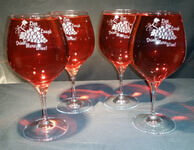 Personalized Burgundy/Pinot Noir Wine Glass, set of 4