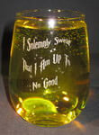 Stemless White Wine Glass, Customized