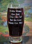 Personalized Wise Woman Beverage Glass