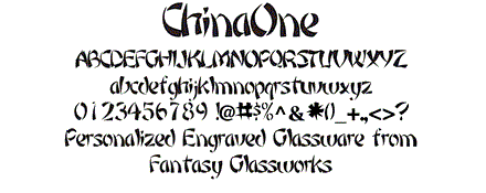 China One Font