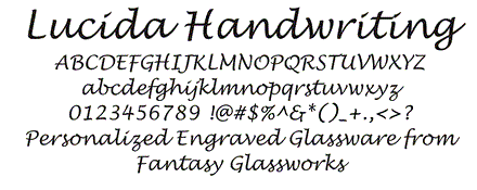 Lucida Handwriting Font