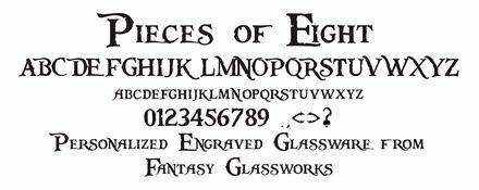 Fonts | Fantasy Glassworks - Rockford, IL