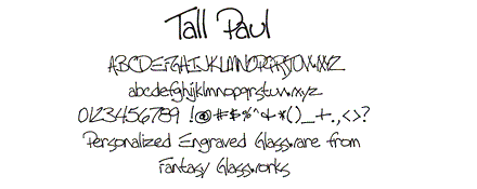 Tall Paul Font