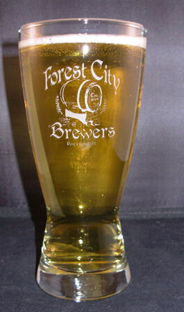 Personalized Engraved Hourglass Pilsner