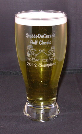 Personalized Engraved Large Pub Glass