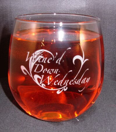 Personalized Engraved Stemless Red Wine Glass