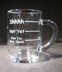 Personalized Engraved 10 oz Coffee Mug