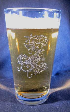 Personalized Engraved 16 oz Beverage/Pint Glass