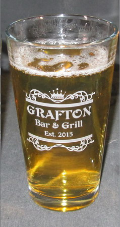 Personalized Engraved 20 oz Beverage/Pint Glass