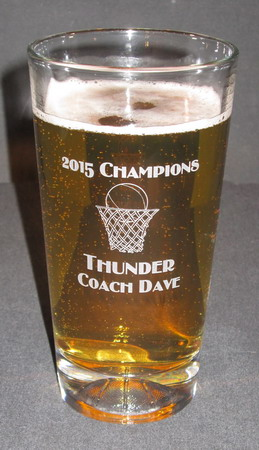 Personalized Engraved Basketball Beverage/Pint Glass