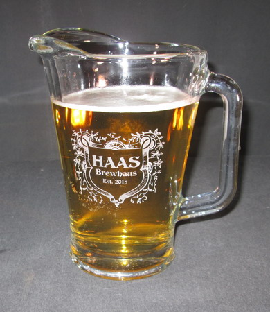 Personalized Engraved Beer Pitcher