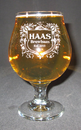 Belgian Engraved Beer Glass