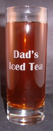 Personalized Engraved 12 oz Beverage Glass
