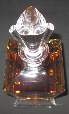 Personalized Engraved Lead Free Crystal Bishop Whiskey Decanter, top view