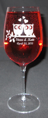 Personalized Engraved Crescendo Bordeaux Wine Glass