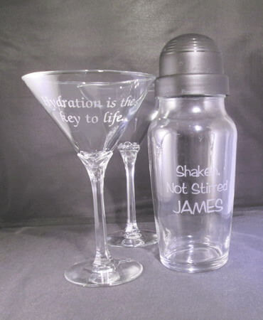Personalized Engraved Domaine Martini Set