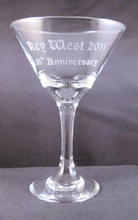 Personalized Engraved Embassy Martini Glass