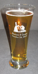 Personalized Flare Engraved Pilsner