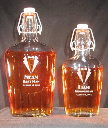 Personalized Engraved 8.5 oz and 17 ozWhiskey Flask