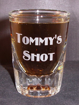 Personalized Engraved Fluted Whiskey Shot Glass