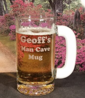 Personalized Engraved White Frost-Free Grip Tankard Beer Mug