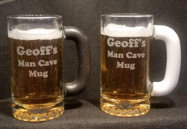Personalized Frost-Free Grip Tankard Beer Mug