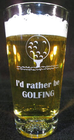 Personalized Golf Engraved Beverage/Pint Glass